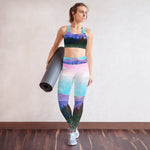 Shades of Nature (original watercolor print) Padded Sports Bra