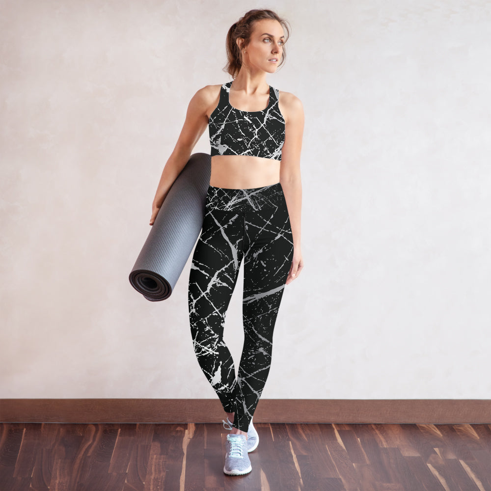 Splash High Waist Womens Yoga Leggings