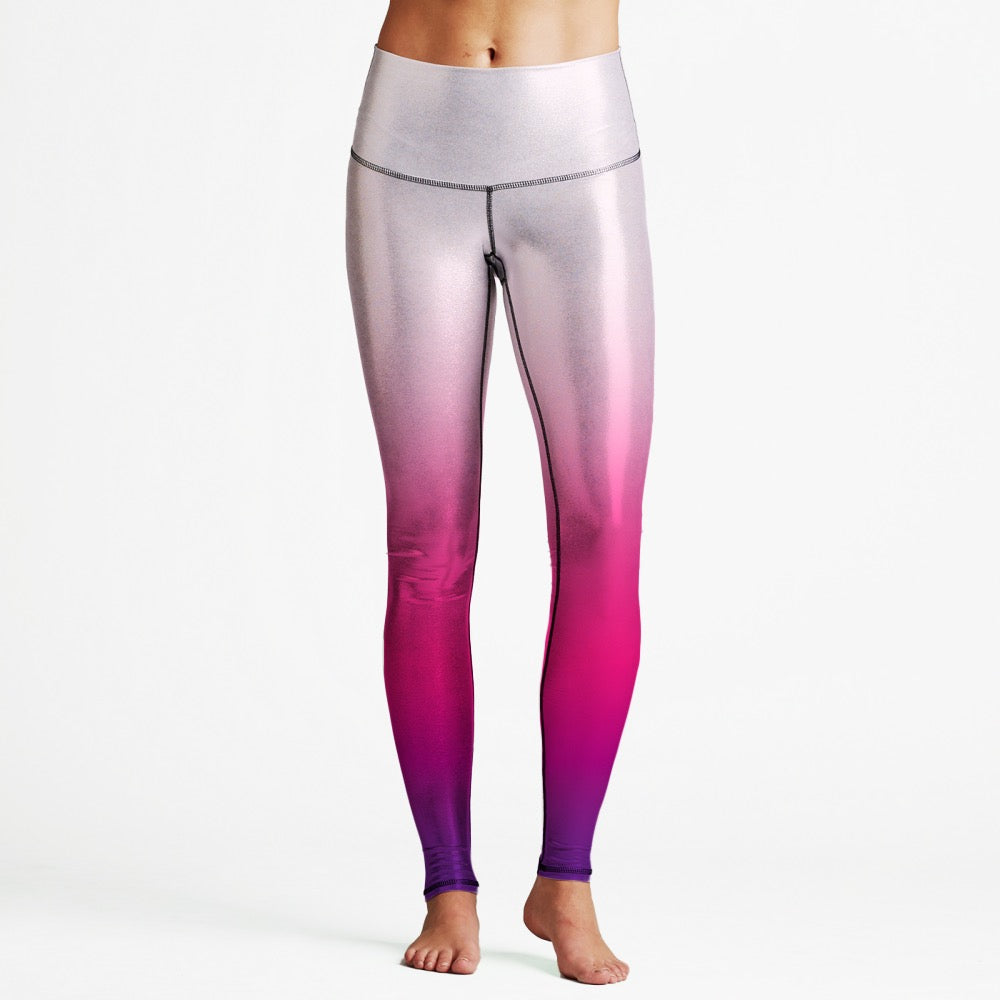 Pink Gradient Luxury High Waist Womens Yoga Leggings