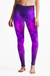 Eco Recycled Fabric Purple Passion High Waist Womens Yoga Leggings