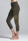 Eco Friendly Recycled Fabric Aum High Waist Womens Yoga Capris