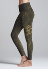 Eco Friendly Recycled Fabric Aum High Waist Womens Yoga Pants