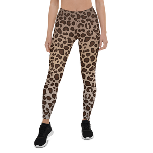 Leopard Print Womens Yoga Leggings