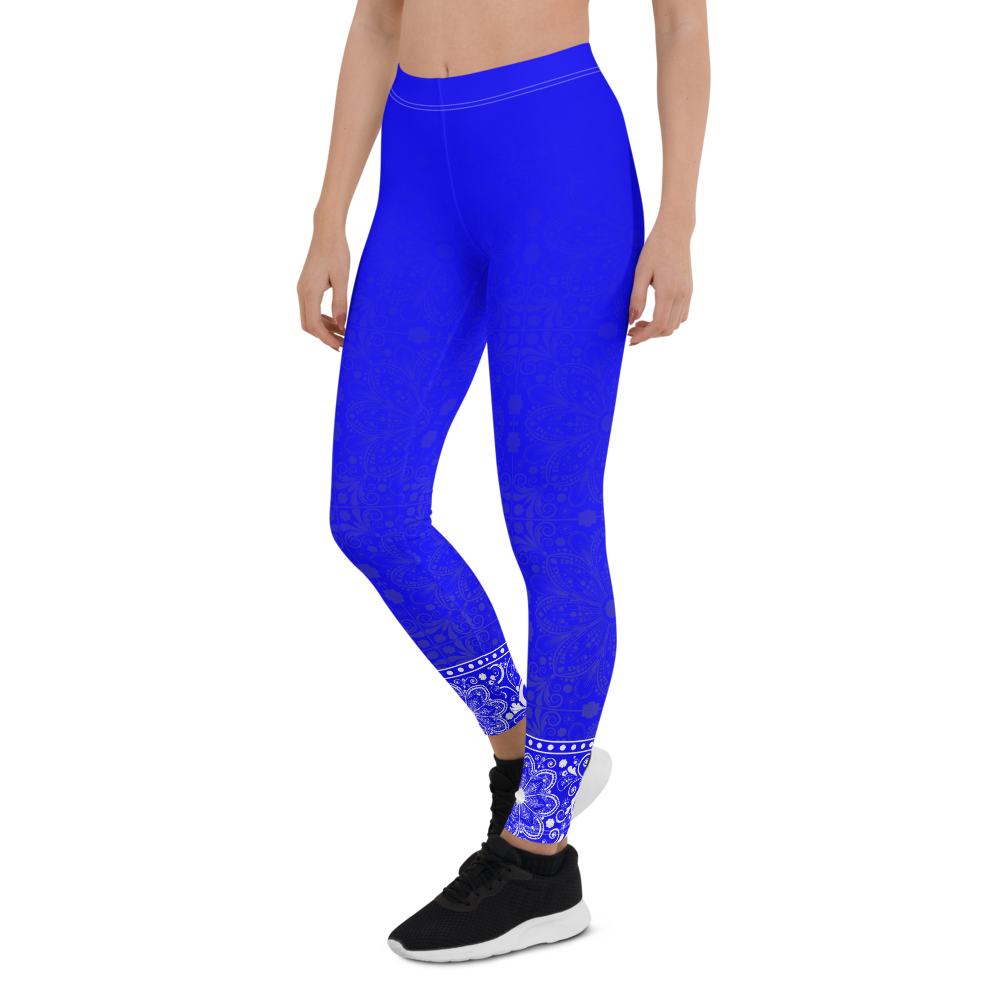 Jhana Blue Womens Yoga Leggings