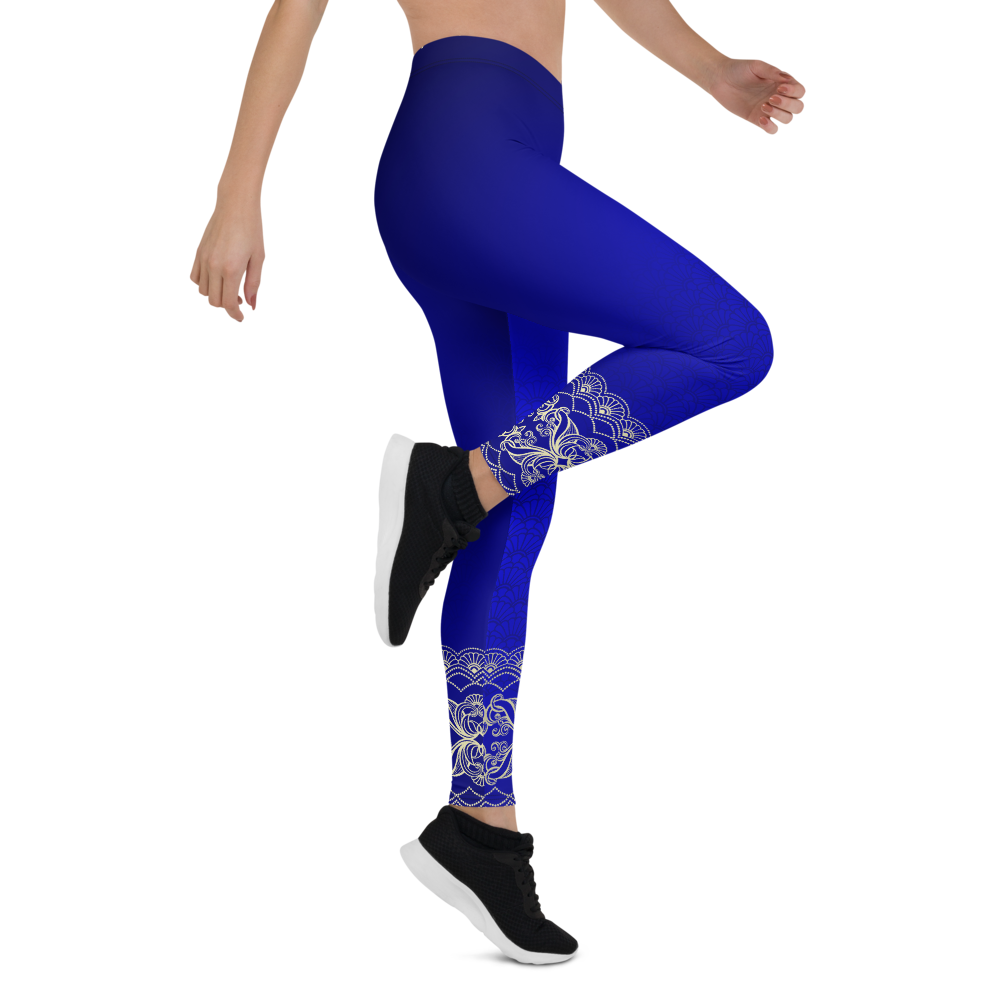 Satya Blue Womens Yoga Leggings