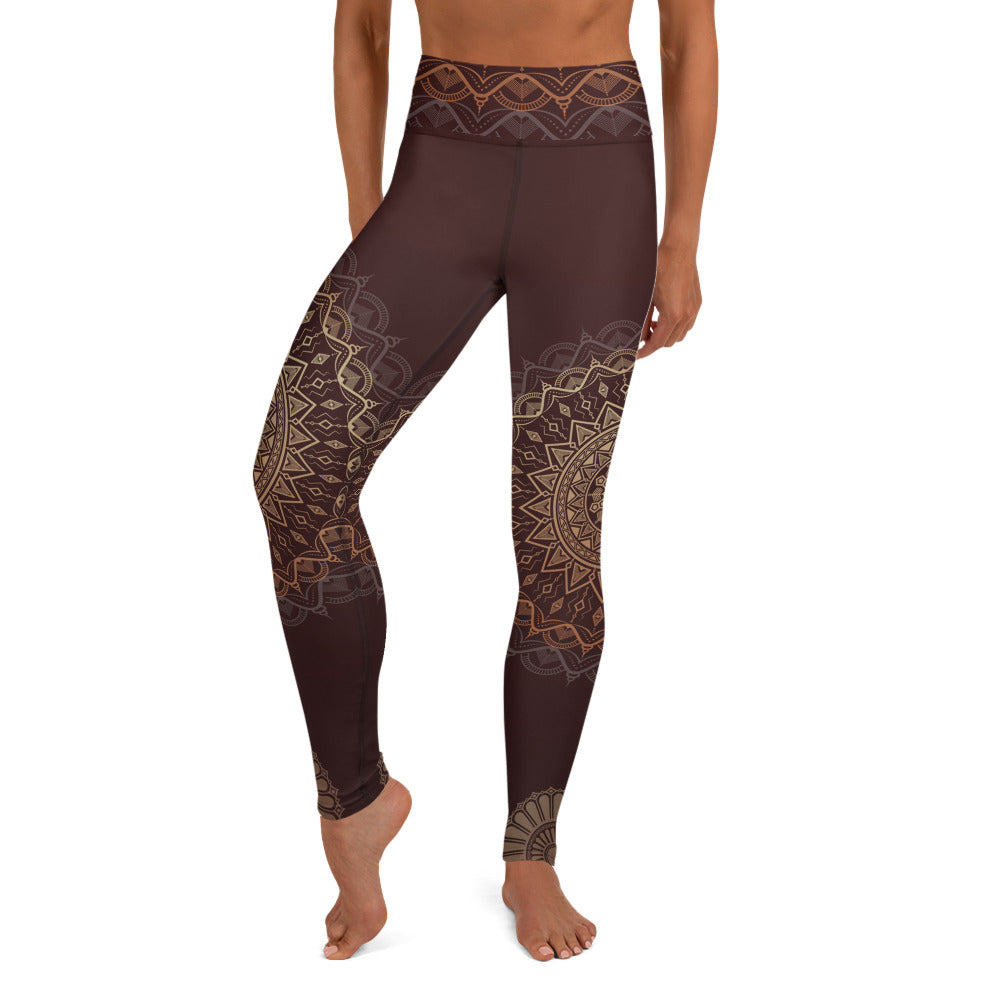 Sandalwood Mandala High Waist Yoga Leggings