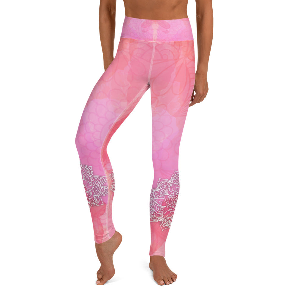 Blossom Pink High Waist Yoga Leggings