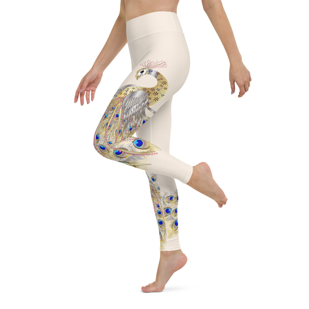 Peacock High Waist Womens Yoga Leggings