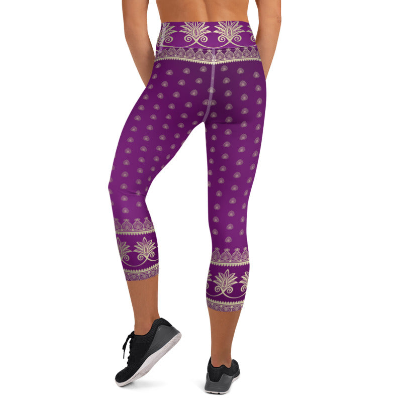 Prana (Purple) Womens Yoga Capri Leggings