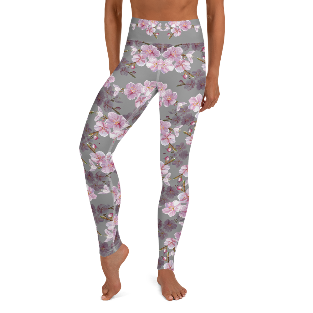 Cherry Blossom High Waist Womens Yoga Leggings
