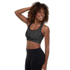 Black Camo Padded Sports Bra