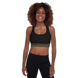 Ahisma Gold Padded Sports Bra