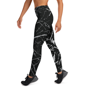 Eco Friendly Recycled Fabric Splash High Waist Womens Yoga Pants