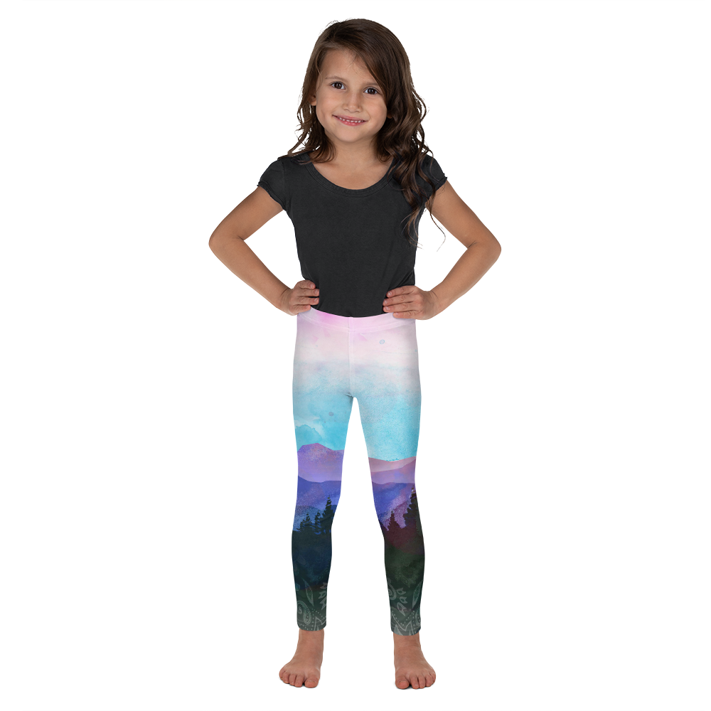 Shades of Nature (original watercolor art) Kid's Leggings