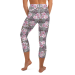 Cherry Blossom High Waist Womens Yoga Capri Leggings