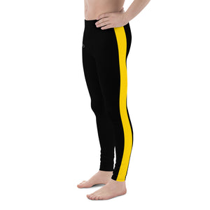 Dragon Yellow Striped Men's Leggings