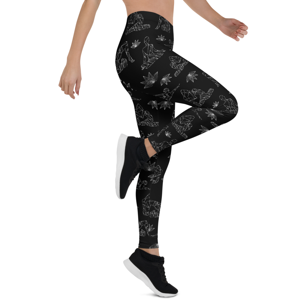 Asana all over Womens Yoga Leggings