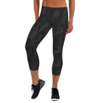 Camo Black Women's Capri Leggings