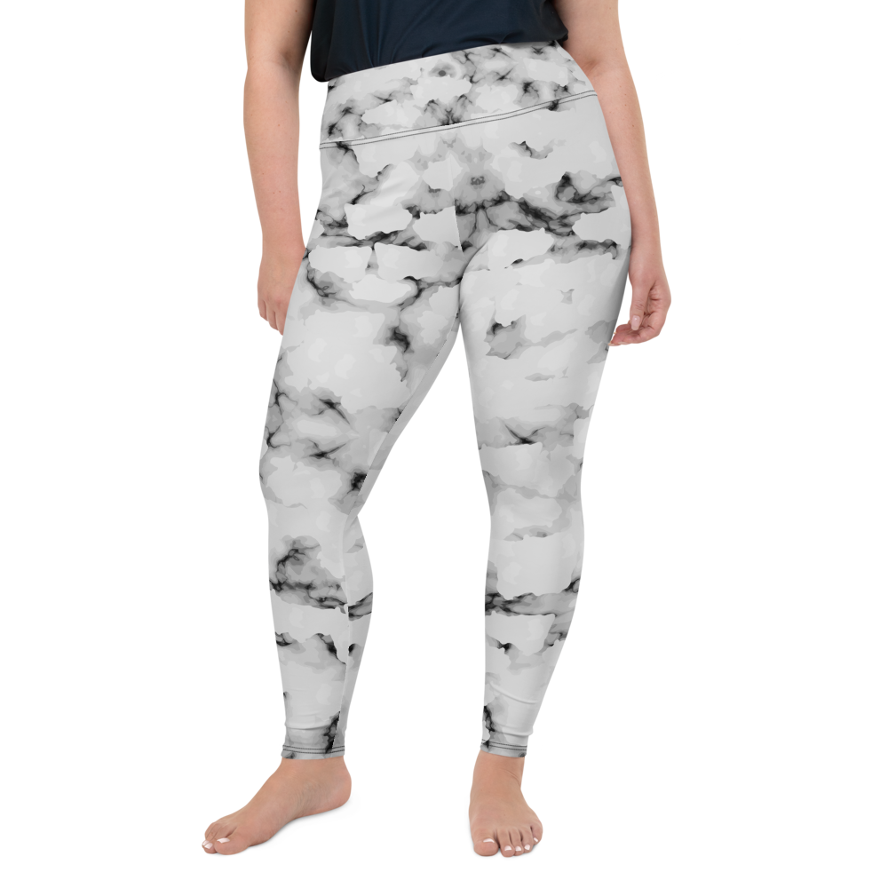 Plus Size All over Faux Marble Womens Yoga Leggings