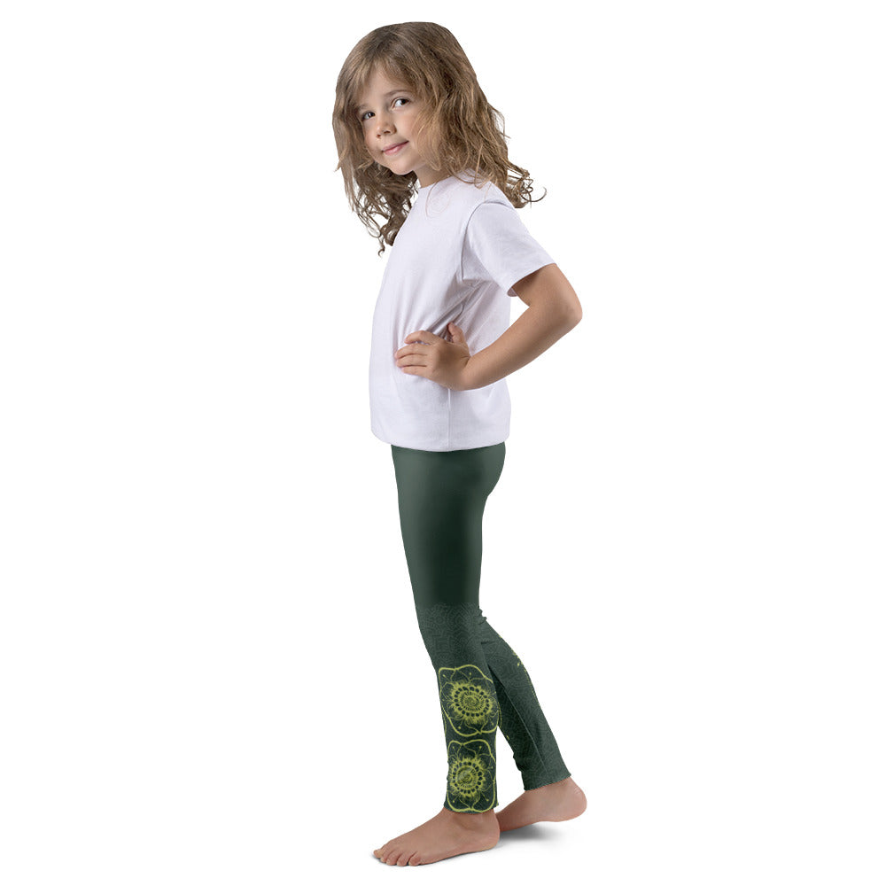 Shakti Original Henna Art (Green) Leggings for Girls
