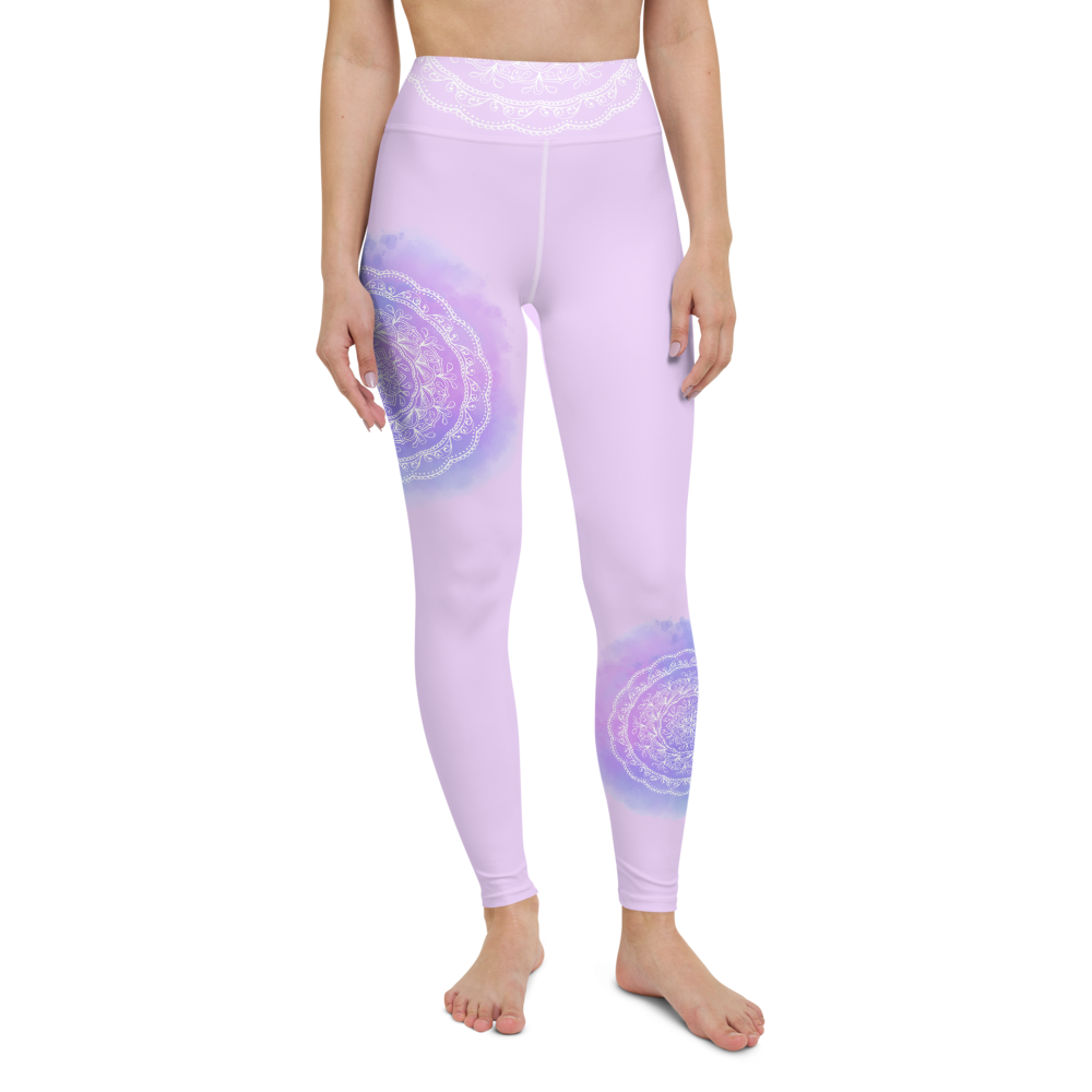 Purple Mandala High Waist Womens Yoga Leggings