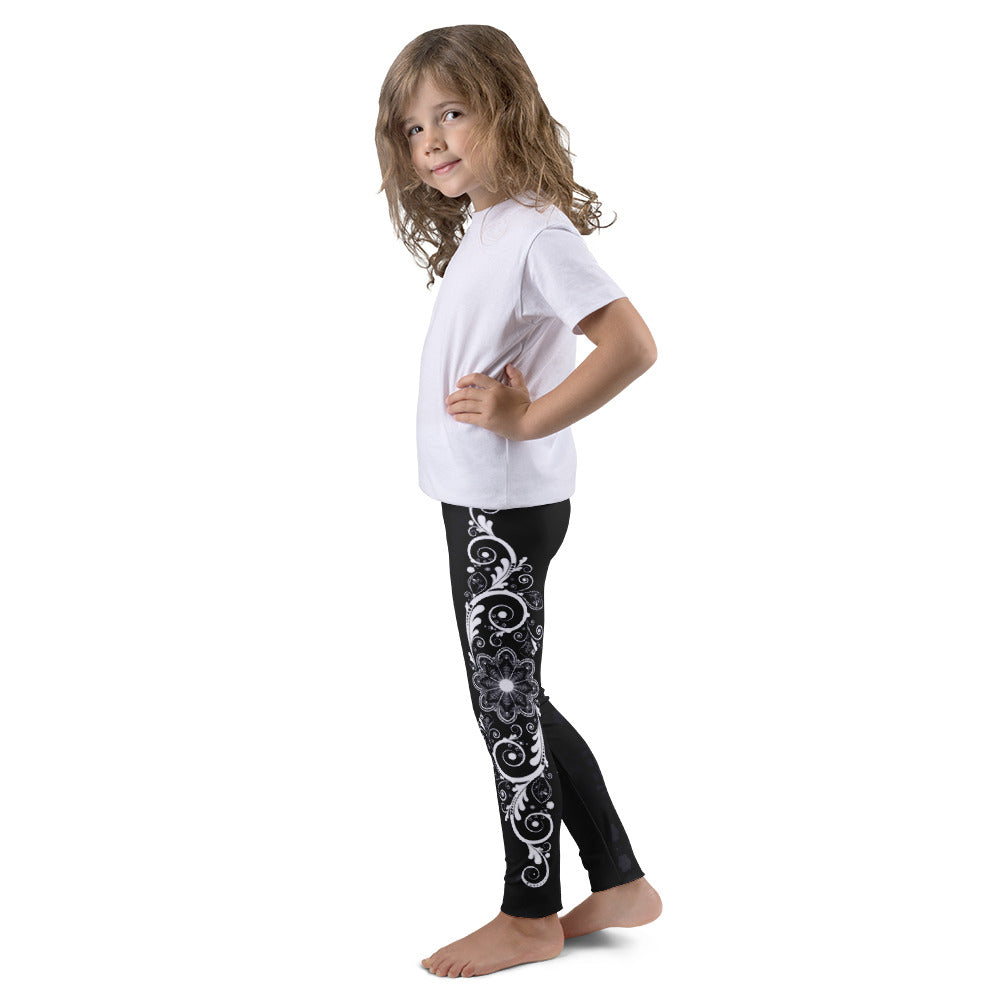 Nirvana (Black) Leggings for Girls