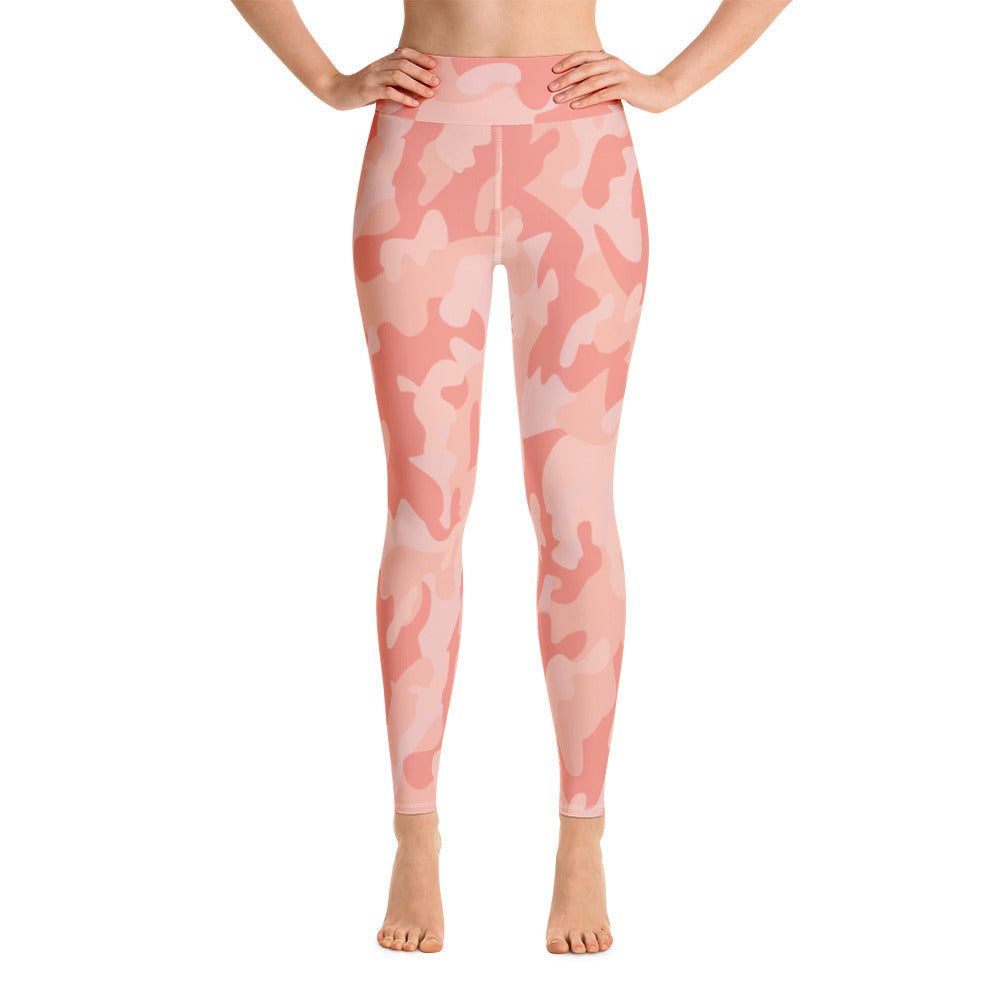Peach Camouflage High Waist Womens Yoga Leggings