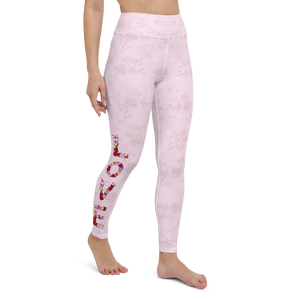 Love Roses Womens High Waist Yoga Leggings