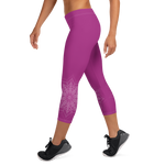 Strawberry Guava Women's Capri Leggings