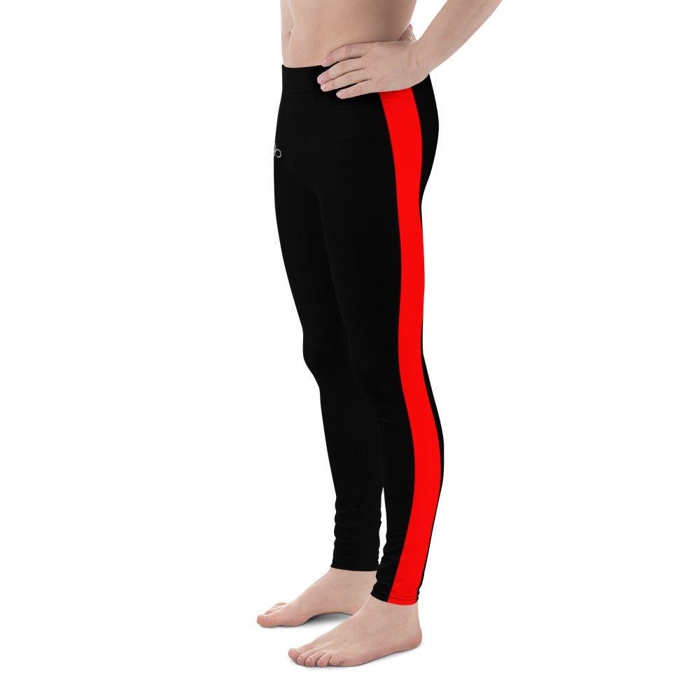 Dragon Red Striped Men's Leggings