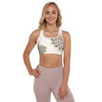 Peacock Womens Padded Sports Bra