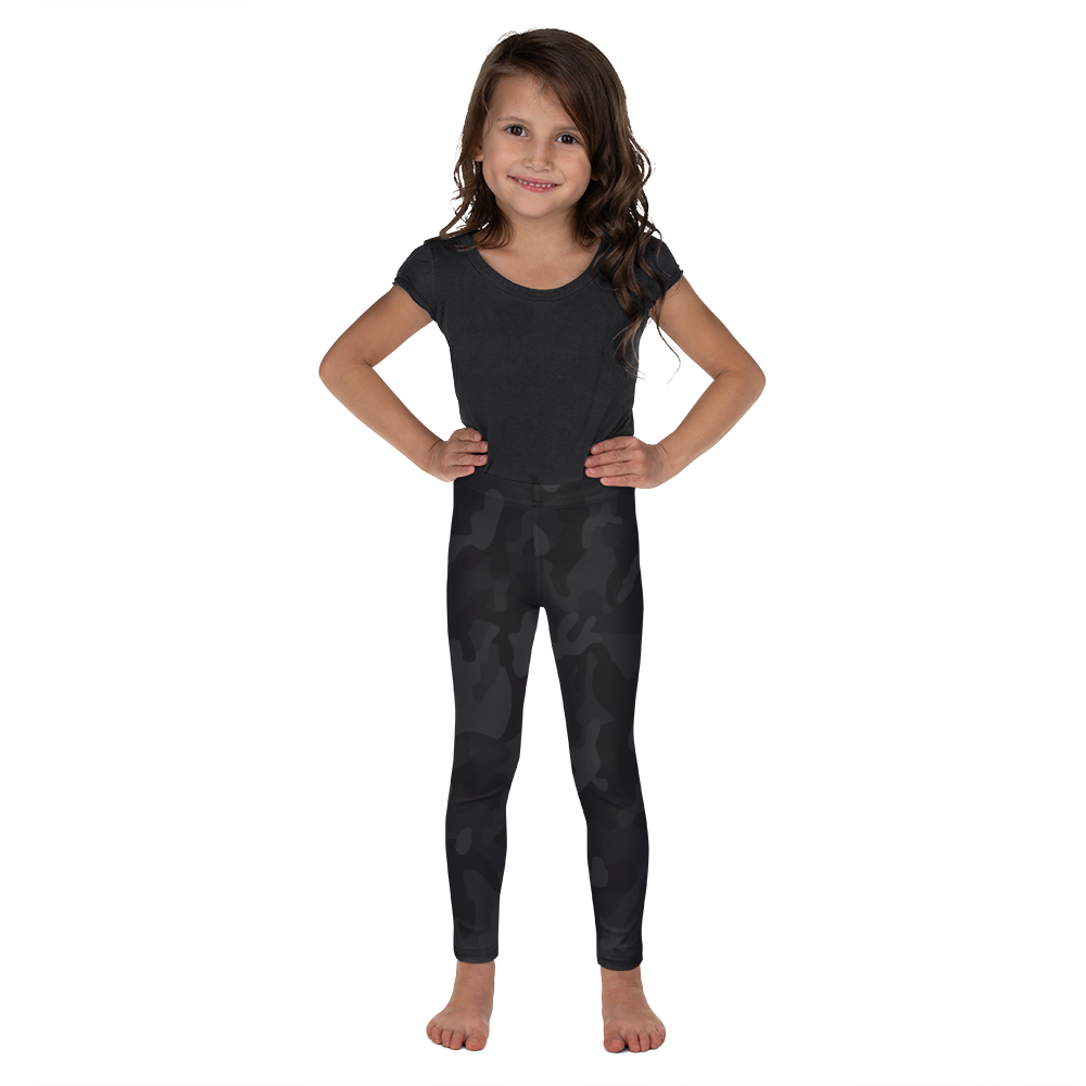 Black Camo Leggings for Girls