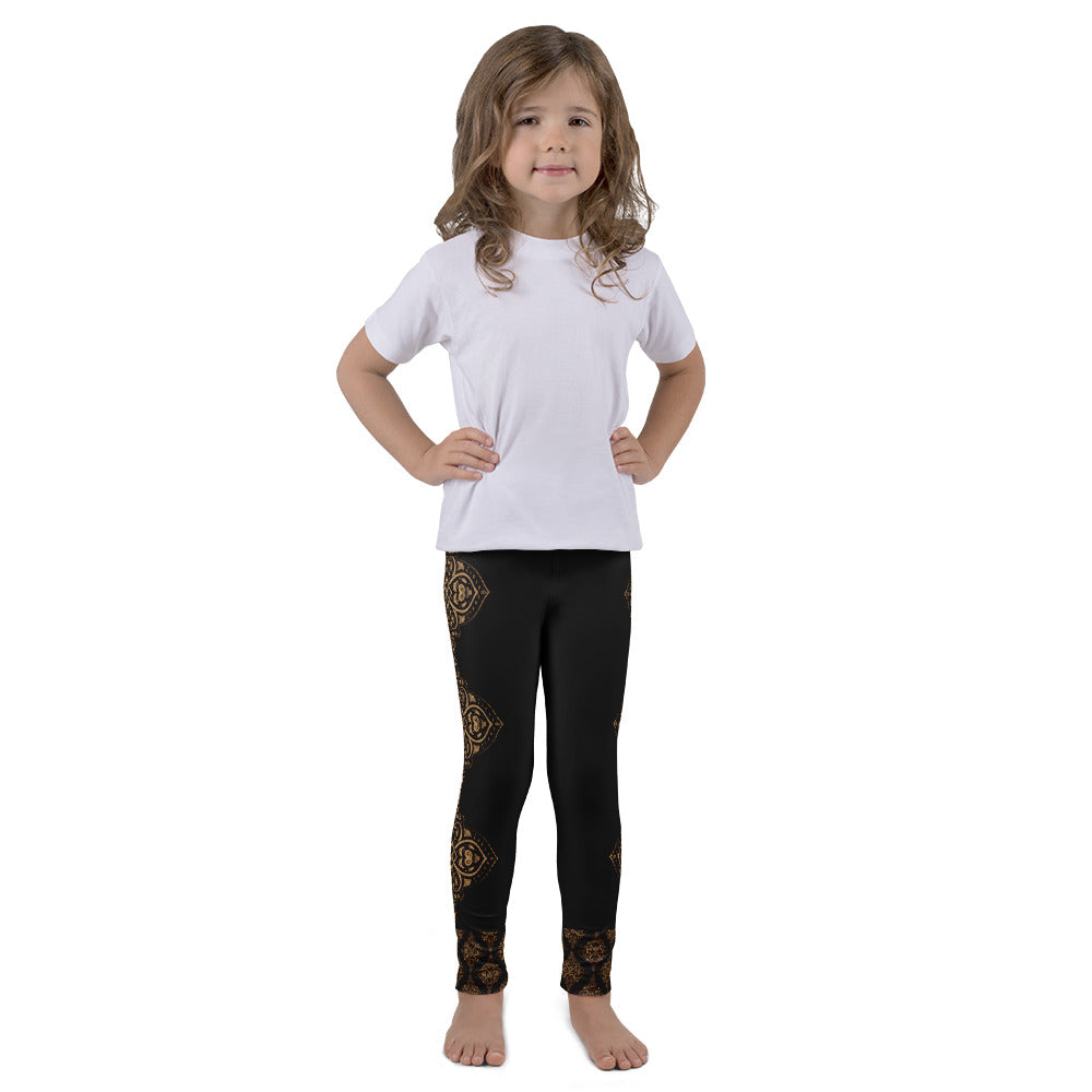 Ahisma Gold Leggings for Girls