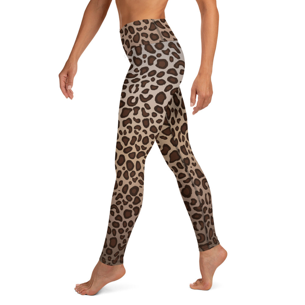 Leopard Print High Waist Womens Yoga Leggings