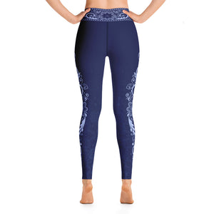 Nirvana (Blue) Yoga Leggings