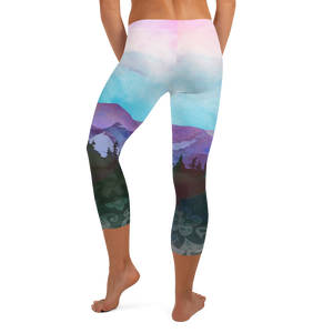 Shades of Nature (original art) Capri Leggings
