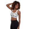 Faux Marble Padded Sports Bra