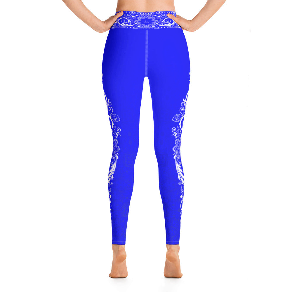 Nirvana ( Electric Blue) Yoga Leggings