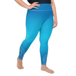Plus Size Bodhi Blue Womens Yoga Leggings