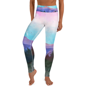 Shades of Nature (original art) High Waist womens Yoga Leggings