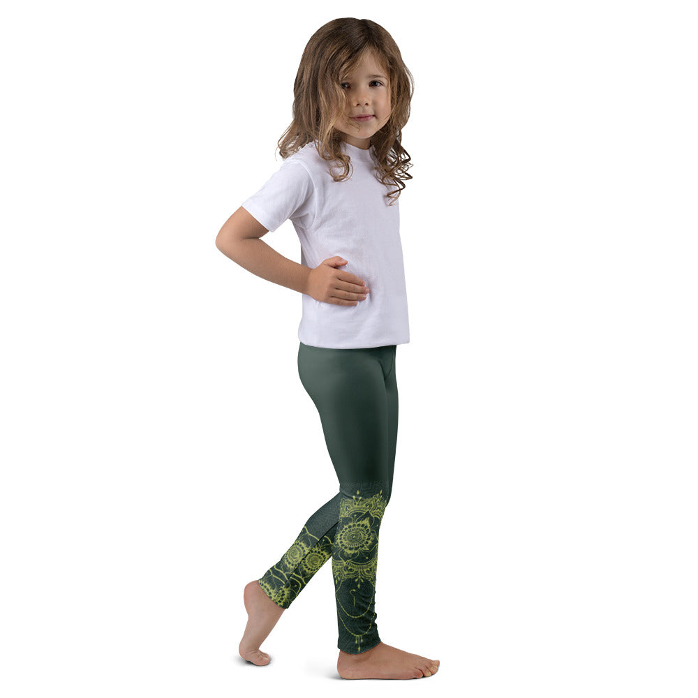 Shakti Henna (Green) Leggings for Girls