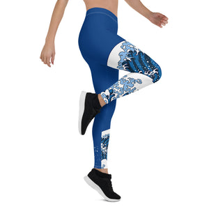 Japanese Raging Waves Womens Leggings
