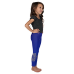 Blue and Gold Mandala Leggings For Girls