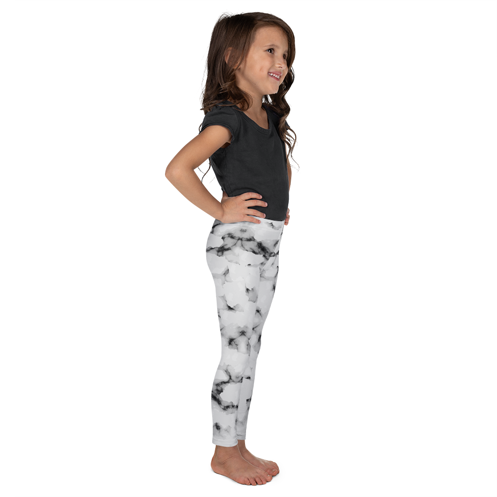 Faux Marble Leggings for Girls