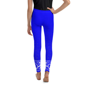 Jhana (Electric Blue) Youth Leggings