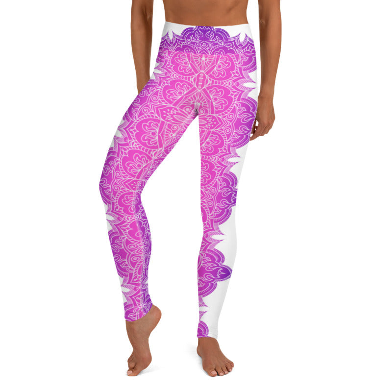 Chakra (Pink Purple gradient) High Waist Womens Yoga Leggings