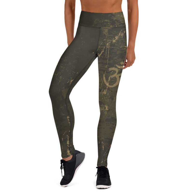 Aum High Waist Womens Yoga Leggings