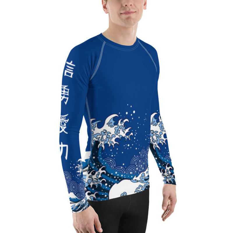 Japanese Raging Waves Men's Rash Guard