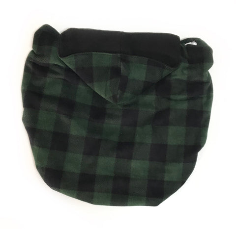 Fleece Lovey Cover- Green Buffalo Plaid