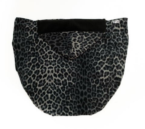 Fleece Lovey Cover- Grey Leopard